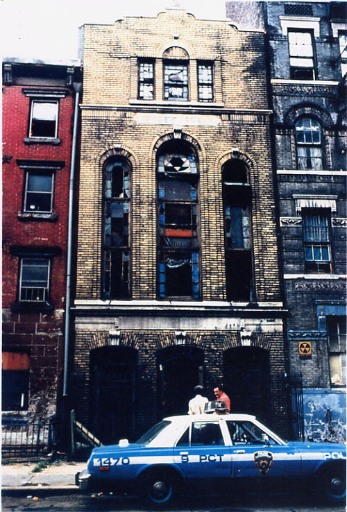 8th Street Shul after 1982 Fire